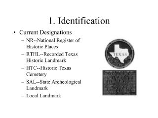 1. Identification