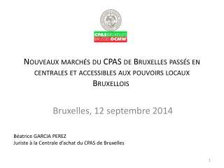 Bruxelles, 12 septembre 2014