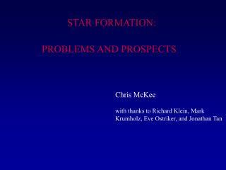 STAR FORMATION: