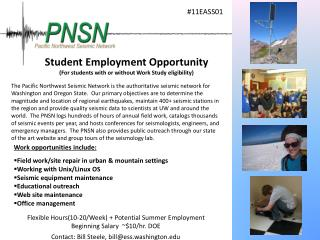 Student Employment Opportunity (For students with or without Work Study eligibility)