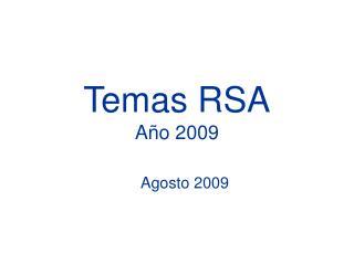 Temas RSA Año 2009