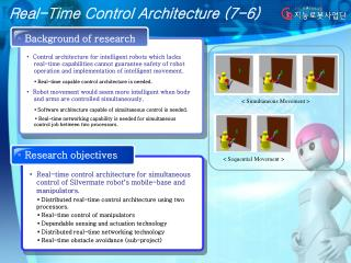 Real-Time Control Architecture (7-6)