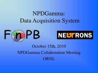 NPDGamma: Data Acquisition System