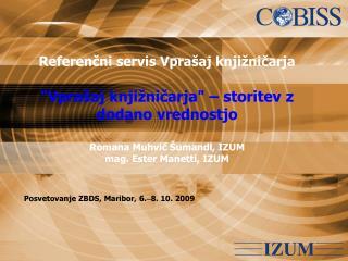 Posvetovanje ZBDS, Maribor, 6.  8. 10. 2009