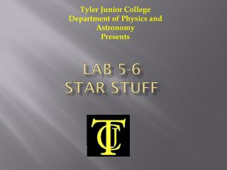 Lab 5-6  Star Stuff
