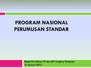 Program Nasional Perumusan Standar