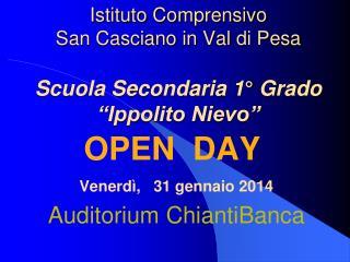 """Istituto Comprensivo San Casciano in Val di Pesa Scuola Secondaria 1° Grado """"Ippolito Nievo"""""""