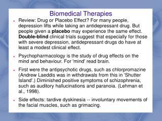 Biomedical Therapies