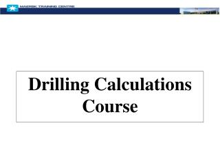 Drilling Calculations Course