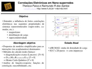 Corre lações Eletrônicas em Nano-superredes Thereza Paiva e Raimundo R dos Santos