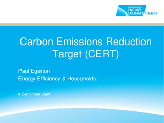 Carbon Emissions Reduction Target (CERT)