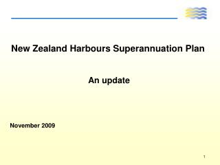 New Zealand Harbours Superannuation Plan