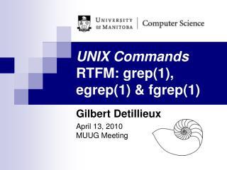 UNIX Commands RTFM: grep(1), egrep(1) & fgrep(1)