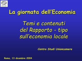 La giornata dell'Economia