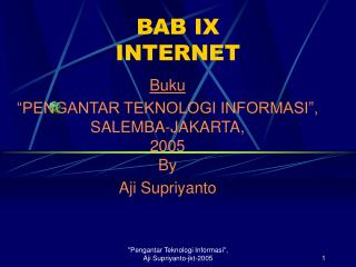 BAB IX INTERNET