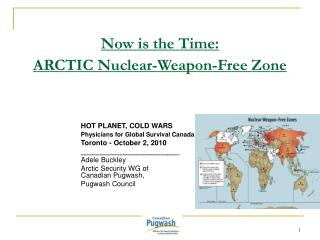 Now is the Time: ARCTIC Nuclear-Weapon-Free Zone