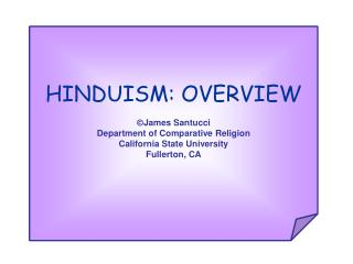 HINDUISM: OVERVIEW
