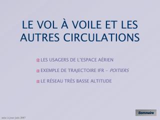LE VOL À VOILE ET LES AUTRES CIRCULATIONS