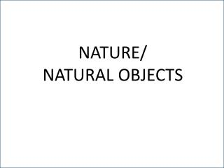 NATURE/ NATURAL OBJECTS