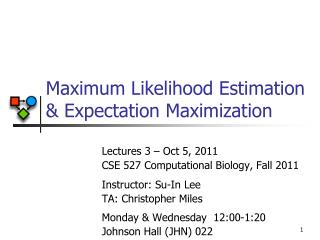 Maximum Likelihood Estimation & Expectation Maximization