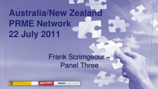 Australia/New Zealand PRME Network 22 July 2011