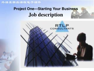 Project One---Starting Your Business Job description
