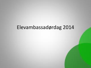 Elevambassadørdag 2014