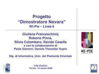 """Progetto """"Dimostratore Novara"""" Wi-Pie – Linea 6"""