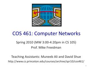 COS 461: Computer Networks