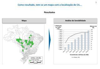 Como resultado, tem-se um mapa com a localização de CIL...