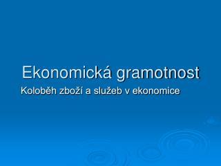 Ekonomická gramotnost