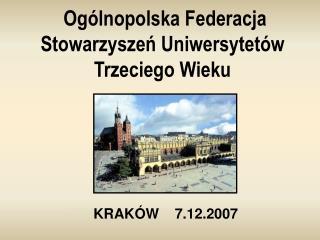 Ogólnopolska Federacja Stowarzyszeń Uniwersytetów Trzeciego Wieku