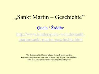 """""""Sankt Martin – Geschichte"""""""