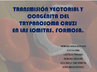 TRANSMISIÓN VECTORIAL Y CONGÉNITA DEL TRYPANOSOMA CRUZI  EN LAS LOMITAS, FORMOSA.