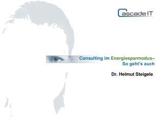 Consulting im Energiesparmodus – So geht's auch