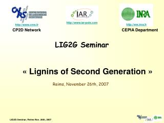 LIG2G Seminar