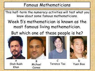 Famous Mathematicians