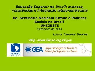 Educação Superior no Brasil: avanços, resistências e integração latino-americana
