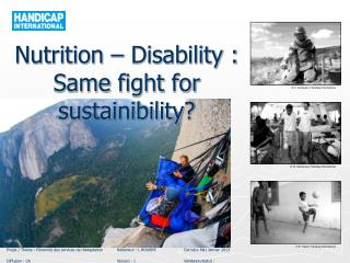 Nutrition – Disability : Same fight for sustainibility ?