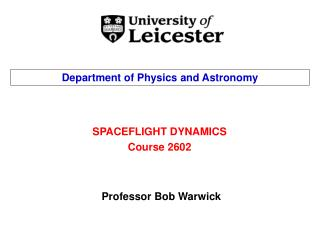 SPACEFLIGHT DYNAMICS Course 2602