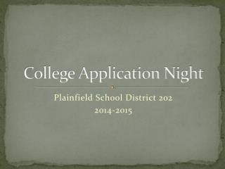 College Application Night