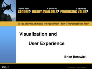 Visualization and User Experience