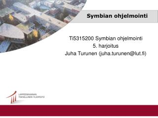 Symbian ohjelmointi