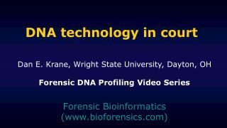 DNA technology in court