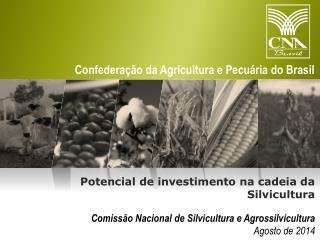 Comissão Nacional de Silvicultura e Agrossilvicultura Agosto de 2014