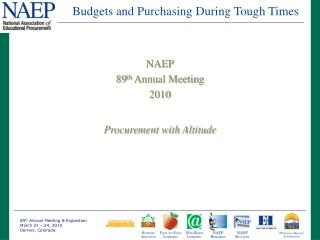 Budgets and Purchasing During Tough Times