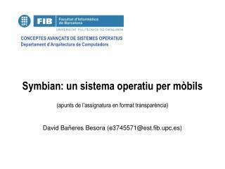 Symbian: un sistema operatiu per mòbils