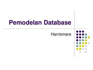 Pemodelan Database