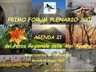 A cura di F. Ghelardini e M. Ponzone