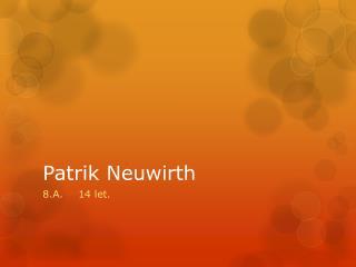 Patrik Neuwirth